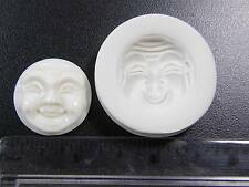 Buddha Face (Happy) Polymer Clay Mold (#MD1246)