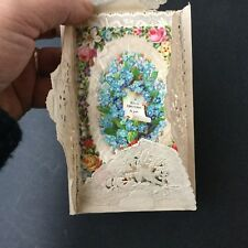 Carte Noël Chromo XIXè Victorian Christmas Card 19thC Scrap Oblaten Glanzbild
