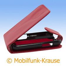 Flip Case Etui Handytasche Tasche Hülle f. Motorola Defy+ (Rot)