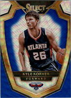 2014-15 Select Prizms Blue and Silver Hawks Basketball Card #123 Kyle Korver PRE