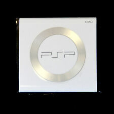 WHITE UMD Door Cover w Steel Ring Replacement for PSP 2000 2001 Slim New Part