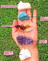 Self-Love crystal set Celestite Citrine Amethyst mini cluster Raw Apatite/Rose Q