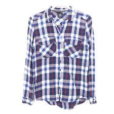 RESERVED Bluse Hemd Kariert Holzfäller Blau Weiß Rot Gr. 36