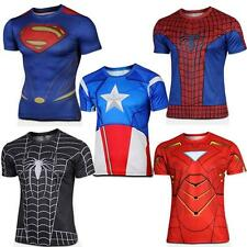 Mens Summer T Shirt Action Figures The Avengers Comics Super Heroes Batman Gym