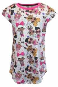 LOL Surprise Girls Nightdress Nighty Nightwear Kids Childrens Pyjamas Pjs Summer
