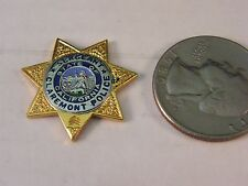 CLAREMONT POLICE SERGEANT MINI BADGE PIN (STYLE #235)