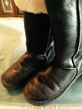 Womens UGGS Classic Tall Smooth Brown Leather Sheep Lined, HARD TO FIND!!!  5