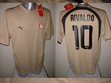OLYMPIAKOS RIVALDO BRASILE Grecia adulto XL Maglia Jersey Calcio Calcio Puma NUOVA CON ETICHETTA