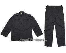 Military US Army Special Force Tactical BDU Uniform Shirt Pants V2 Black - XL