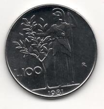 Moneta 100 lire Minerva 1981 FDC REPUBBLICA ITALIA Italy CX40