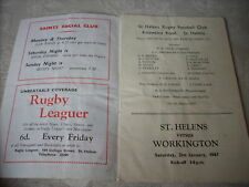 21.1.67 St Helens V Workington ville programme