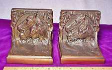 Pair of Horse Heads/circa 1930 Gray Metal Nice Antique Bookends