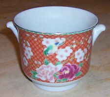 1981 Japanese Cloisonne~ White & Pinkflowered Hand Decorated Planter Bowl