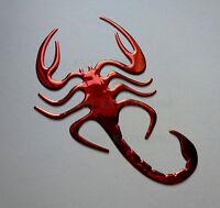 rosso cromo effetto Scorpione Stemma Adesivi per AUDI TT TTS Q3 Q5 Q7 SQ5
