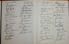 1958 Melbourne History over 50 Premiership players signed autographs