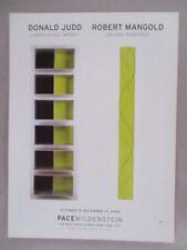 Donald Judd & Robert Mangold Art Gallery Exhibit PRINT AD - 2004