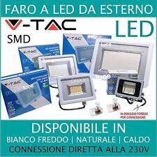 V-TAC FARO FARETTO LED SMD 10W 20W 30W 50W 100W ULTRA SLIM ESTERNO COLORE BIANCO