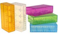 Plastik Box für 2x 18650 o. 4x 16340 in verschidenen Farben