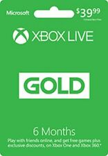 New! 6 Month Xbox Live Gold Membership Email Delivery Free Shipping