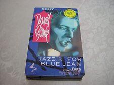 David Bowie Jazzin' For Blue Jean  BETA BETAMAX TAPE