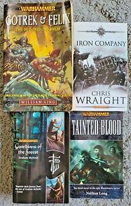 Warhammer 4 Book Lot Paperback Fantasy Gotrek Felix Iron Company Guardians