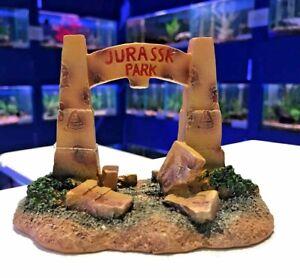 Jurassk Park Dinosaur Gates Aquarium Bridge Fish Tank Goldfish Bowl Ornament BR3