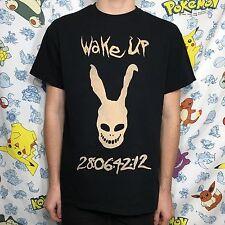 Donnie Darko Inspired Bleach T-Shirt Frank Bunny Suit Black Cult Film Movie Tee