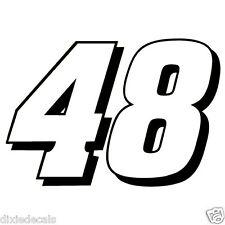 "12"" Jimmie Johnson Number 48 Window Decals Vinyl Stickers Hendrick Motorsports"
