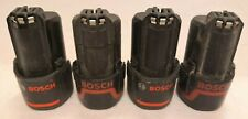 4 x Bosch 10.8V 2.0Ah Li-Ion Batteries