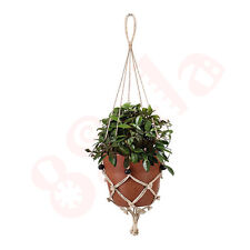 Classic Macrame Decorative Handmade Plant Hanger Natural Jute Twine Basket D07