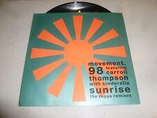 "MOVEMENT 98 - Sunrise (Ragga Mix) - 1990 UK 2-track 12"" Vinyl Single"