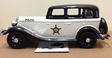 Beam Decanter Police Patrol Car Ford 1930's black white box, MISSING side mirror