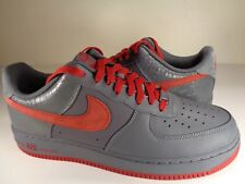 Nike Air Force 1 AF1 Low Premium Flint Grey Red Croc Print SZ 11.5 (318775-062)