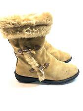 Sonoma Women's Faux Fur Suede Winter Boots Size 10
