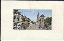 Ansichtskarte Burg bei Magdeburg - Breiteweg - Gravur - 1918 (!) - SEHR SELTEN!!