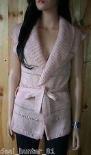 SALE Vila Elegant Ladies Waistcoat /bodywarmer Pastel Pink&Gold  M/10/38 74/8