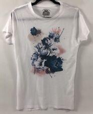 BOLONGARO TREVOR Women's White T-shirt, Top, Floral Print, size Large