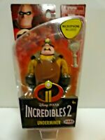 Disney Pixar The Incredibles 2 Underminer 4-Inch Action Figure W/ MICROPHONE NEW