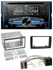 JVC mp3 USB CD 2din aux radio del coche para fiat idea a partir de 05 negro