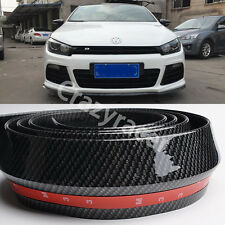 Rubber Front Bumper Edge Strip Chin Protection Side Skirts Spoiler Lip for VW