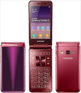 Android Samsung Galaxy Folder2 SM-G1650 Big Keyboad Dual SIM 4G LTE Flip Phone