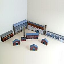 More details for n gauge card model railway warehouse buildings pack of 8 x buildings p-i-002