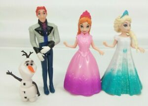 Disney Frozen lot Magiclip Anna Elsa, Hans Polly Pocket doll, Olaf PVC figure FS