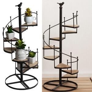 Metal Plant Stand In/Outdoor Ladder Shelf 8-Tier Flower Pot Storage Rack Display