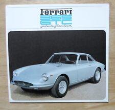 FERRARI 365 GTC COUPE PININFARINA original 1968 Sales Brochure - #28/68