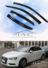 For Audi A3 4D Sedan 13-18 Window Visor Vent Sun Shade Rain Guard Door Visor