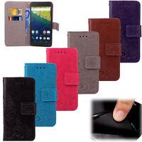 For Google Nexus 5X LG 6P Huawei PU Leather + TPU Wallet Clip Flip Case Cover