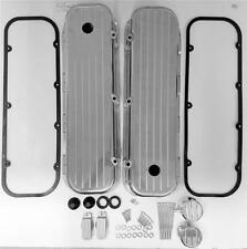 Big Block Chevy Tall Valve Cover Ball Milled Aluminum Breather PCV Combo Gaskets