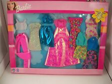 Barbie Doll Fashion Looks for Day & Night 8 Outfits NEW  Mattel 68213 #2 NIP