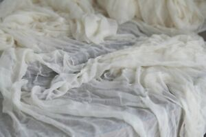 Gauze Wedding Cheesecloth table runner Wedding table decor, Styling Rustic Cream